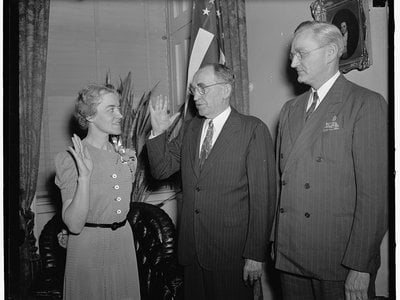 Margaret Chase Smith became the first woman ever to serve in both the House of Representatives and the Senate—and the first senator to stand up against Joseph McCarthy's Red Scare.