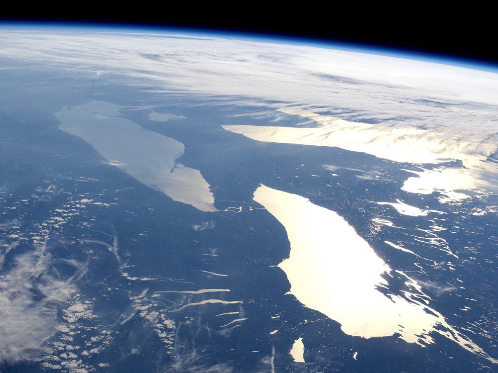 Great lakes Huron, Ontario, and Erie