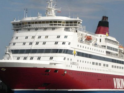 Large ferries like this Viking Line vessel cruise between Helsinki and Tallinn every day.
