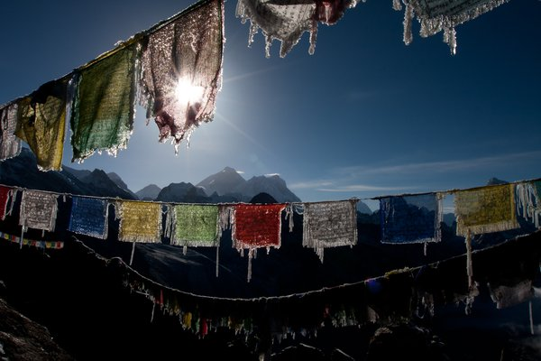 Praying flags in the Himalayas. thumbnail