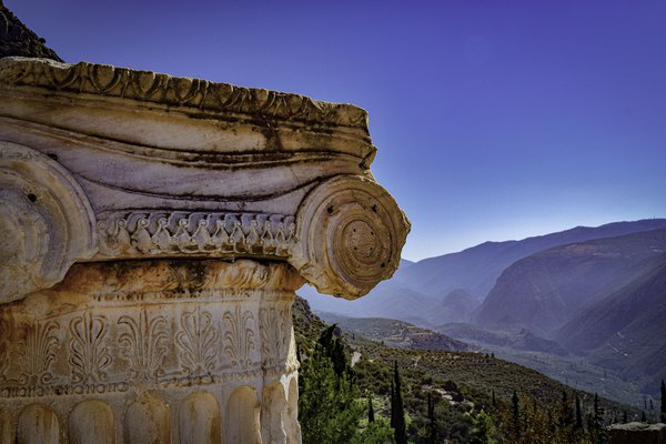 View from Apollo's Temple in Delphi thumbnail