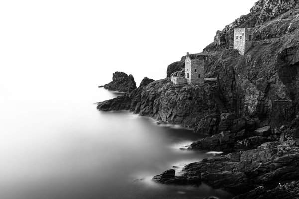 Calm seas at Botallack Mines, Cornwall. thumbnail