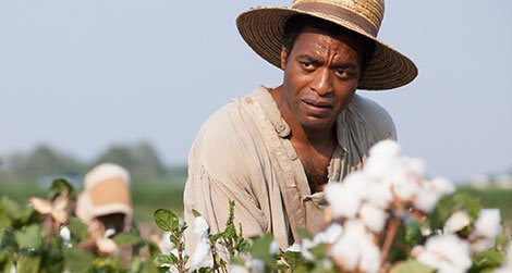 """Chiwetel Ejiofor as Solomon Northup in """"12 Years a Slave"""""""