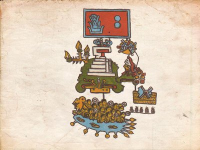 This Aztec pictogram depicts warriors drowning as a temple burns in the background. New research links the scene to a 1507 earthquake.