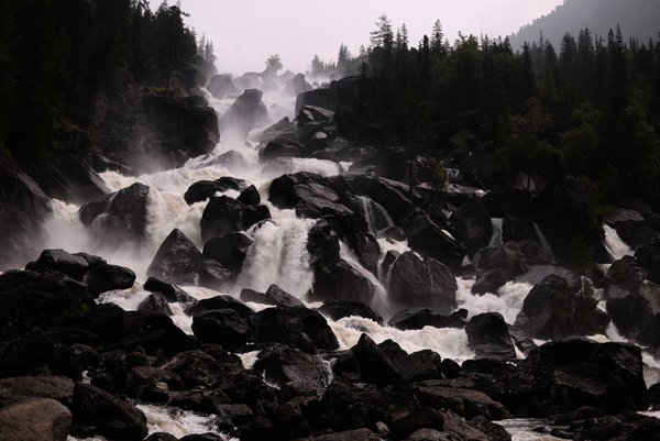 Uchar Waterfall in the Altai Republic thumbnail