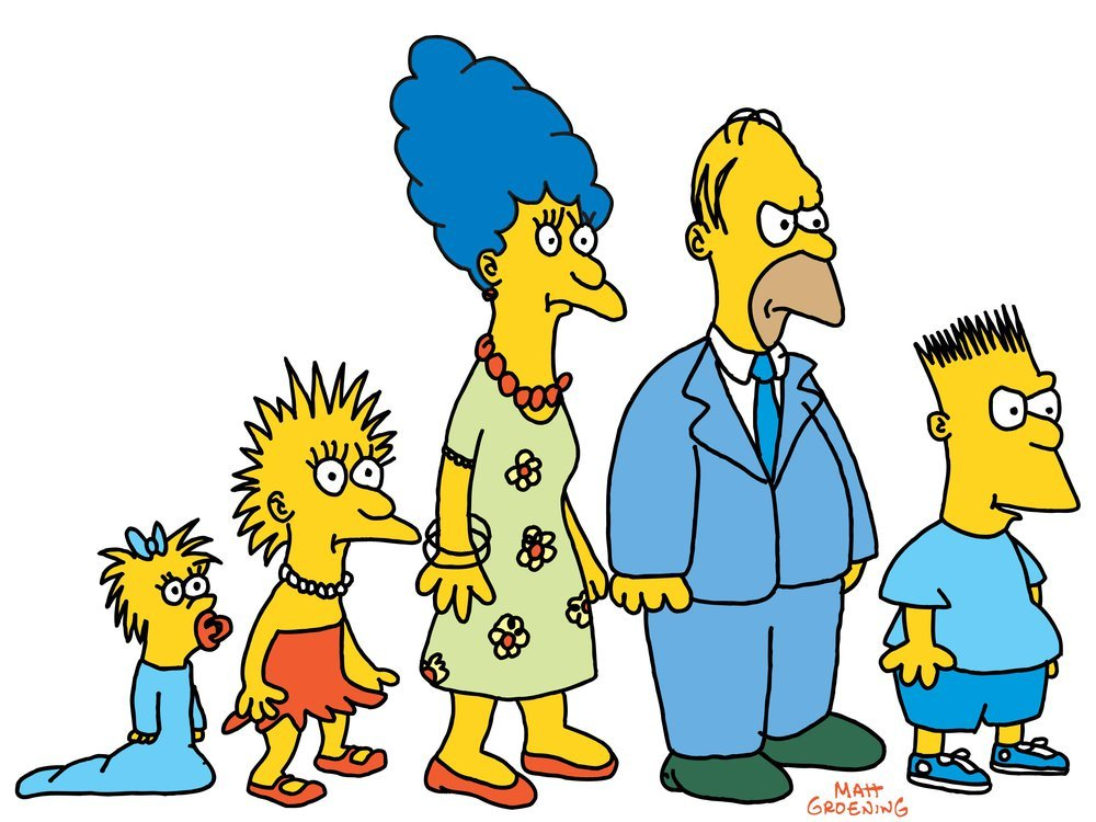 The old Simpsons