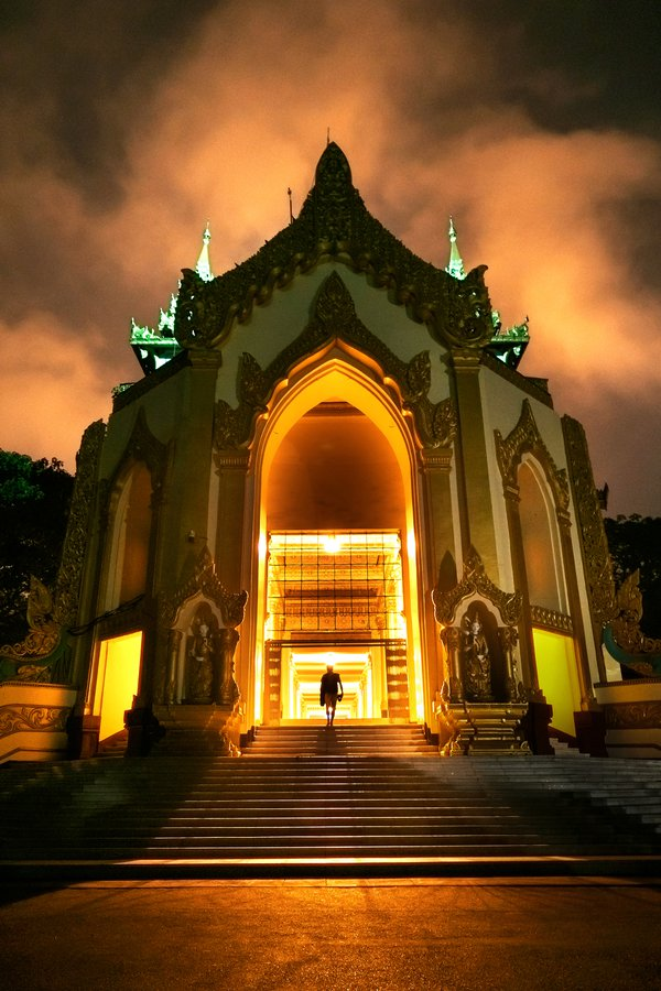 North gate at the famous of Shwedagon pagoda in Myanmar thumbnail