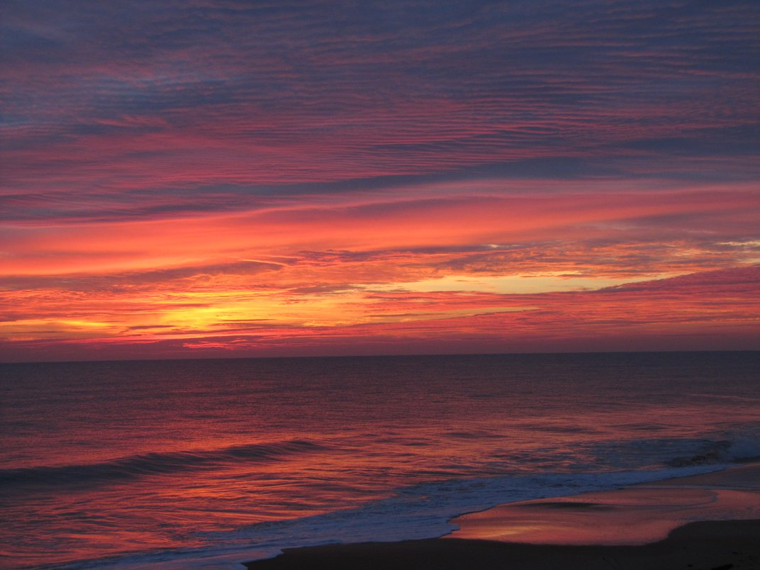 Sunrise over the Atlantic Ocean in Ormond Beach FL not tampered with at  all.   Smithsonian Photo Contest   Smithsonian Magazine