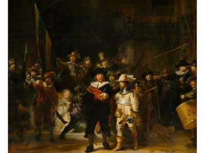 Although the painting is dubbed The Night Watch, research suggests that it was originally a daylight scene.