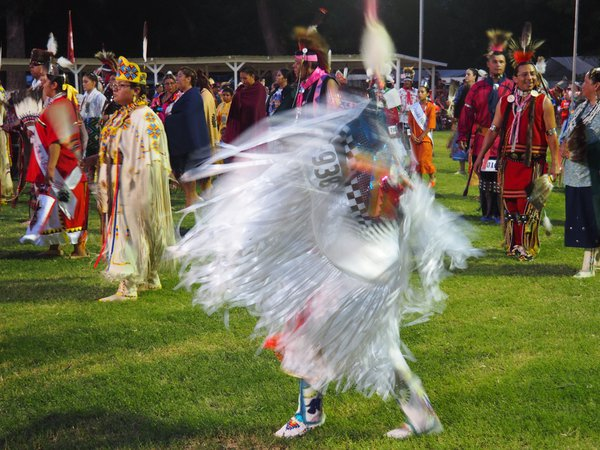 A young Native Americans dancing during a Pow wow thumbnail