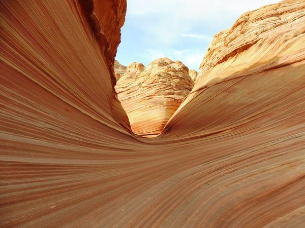 Several rippled and colorful walls at the Wave. thumbnail