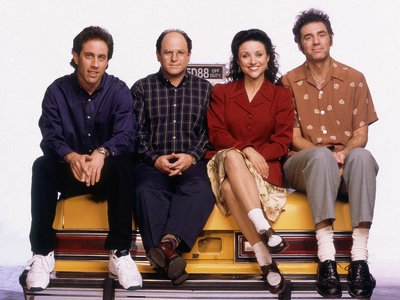 """""""Seinfeld""""'s Jerry Seinfeld, Jason Alexander, Julia Louis-Dreyfus and Michael Richards"""