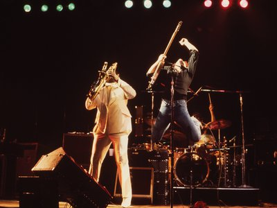Clarence Clemons and Bruce Springsteen, Cleveland, Ohio by David Gahr, 1977