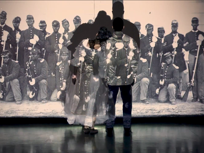 Djassi Johnson (left) and Kevin Boseman (right) perform the dance choreographed by Johnson.