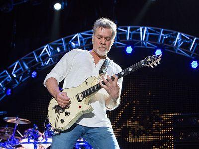 Guitarist Eddie Van Halen performs at a September 2015 concert in Chula Vista, California.