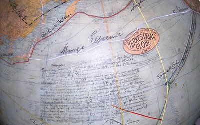 The prized Fliers' and Explorers' Globe at the American Geographical Society