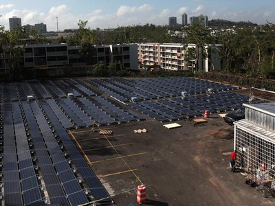 A solar and battery-powered microgrid got San Juan's Children's Hospital quickly back online after Hurricane Maria.