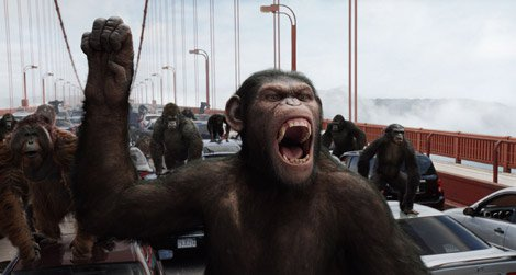 Still from Rise of the Planet of the Apes