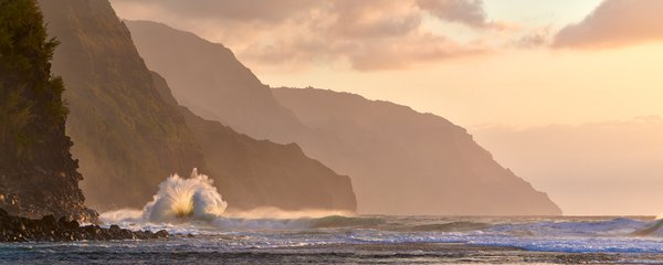 If A Wave Crashes - Wave at sunset along the Na Pali Coast thumbnail