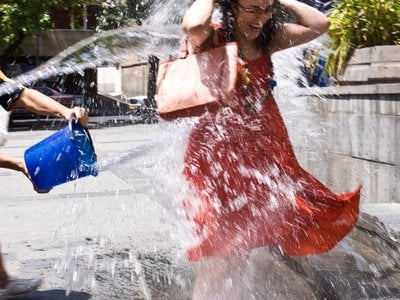 Water throwing on Vardavar is a holiday unique to Armenia.