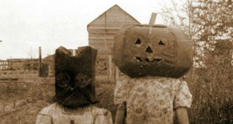 Pumpkinhead and cat(?), date unknown