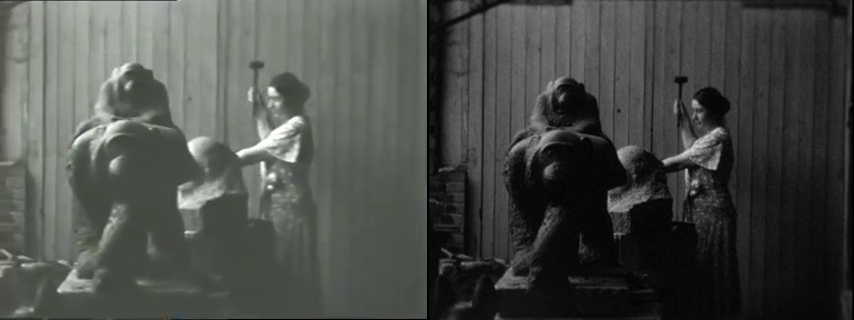 Stills from  Home movies of Paris studio and zoo, between 1934 and 1936. Marion Sanford and Cornelia Chapin papers, 1929-1988. Archives of American Art, Smithsonian Institution.