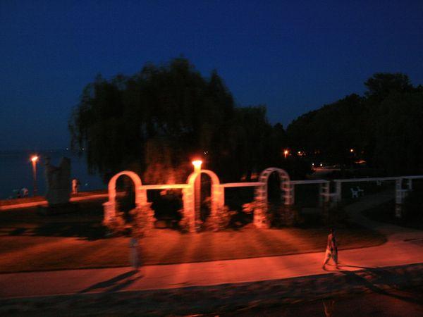 Arrival Port of Siofok at Night thumbnail
