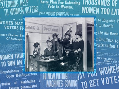 The League of Women Voters led registration efforts across the country.