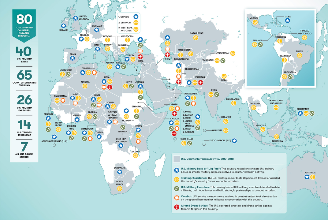 This Map Shows Where in the World the U.S. Military Is Combatting Terrorism