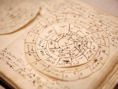 This manuscript on astronomy by Issachar Ber Carmoly dates to 1751.
