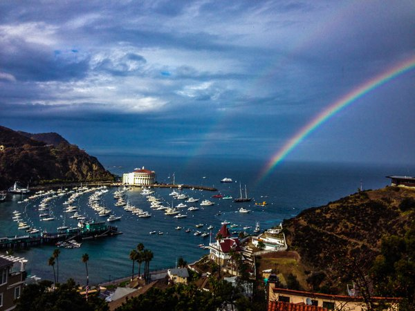 Double Rainbow at Catalina Island thumbnail