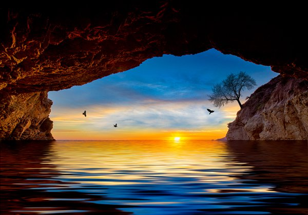 Tranquility In The Sea Cave thumbnail