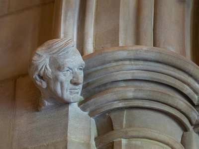 """The cathedral's dean, Randy Hollerith, describes Wiesel as """"the living embodiment of resilience in the face of hatred."""""""