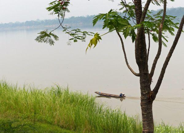 Canoe on the Mekong River  thumbnail