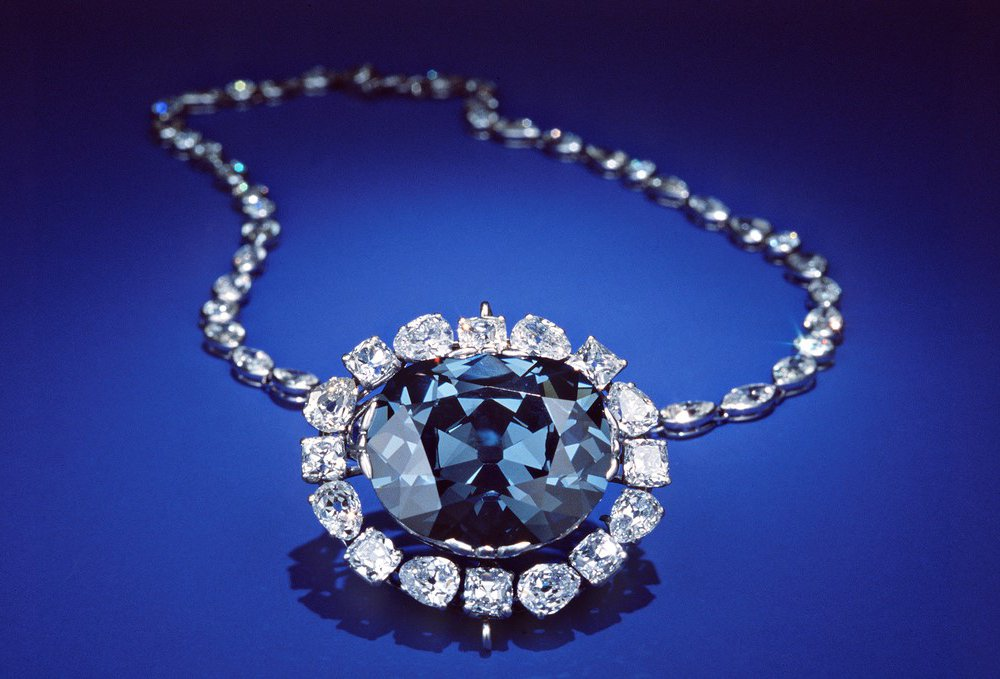 The Hope Diamond came to the Smithsonian's National Museum of Natural History in 1958. Since then, museum scientists have uncovered a lot about the diamond's intriguing past. (Dane A. Penland, Smithsonian)