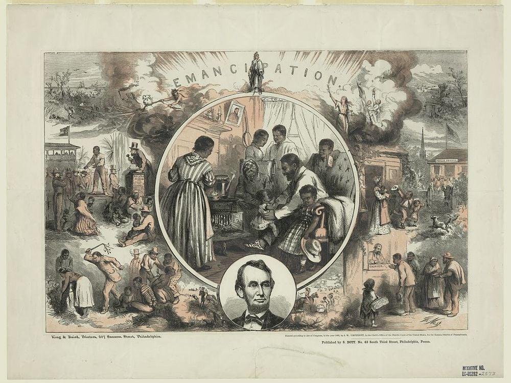 Emancipation proclamation illustration