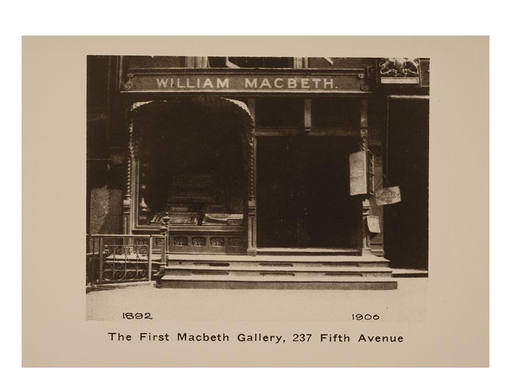 Macbeth Gallery, ca. 1896 / unidentified photographer. Macbeth Gallery records, 1838-1968, bulk 1892-1953. Archives of American Art, Smithsonian Institution.