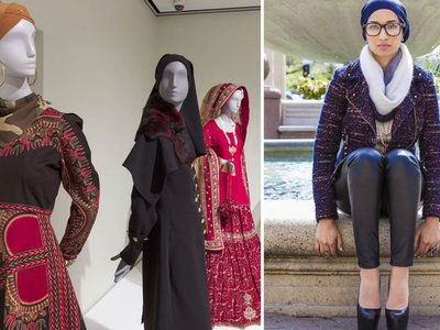 Saba Ali, right, and Contemporary Muslim Fashions from the Cooper Hewitt, Smithsonian Design Museum