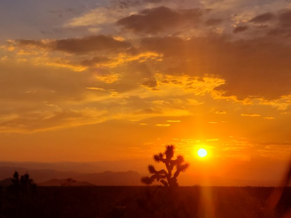 Arizona Sunset in White Hills, Arizona thumbnail