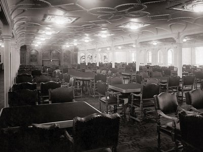The dining room on the Titanic