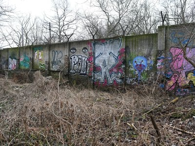 A section of the Berlin Wall in Pankow, the neighborhood where a nearly 200-foot stretch of the historic structure was razed to make way for luxury condos