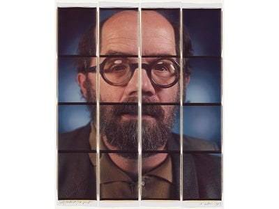 Chuck Close Self-Portrait, dye diffusion transfer prints, 1989
