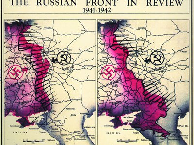 The Russian Front of World War II as of 1942.