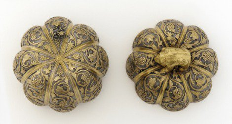 A silver Chinese box in the shape of a flower, Tang Dynasty, late 7th to early 8th century