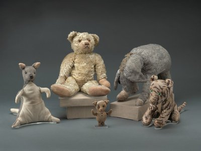 Winnie-the-Pooh dolls owned by A.A. Milne's son Christopher Robin