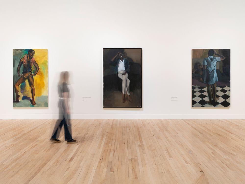 Installation view of Tate Britain's Lynette Yiadom-Boakye retrospective
