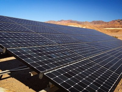 Solar panel in Death Valley National Park.