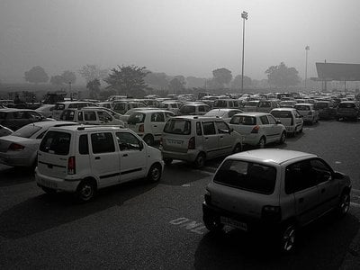 Some of the worst air pollution in the world--caused by many sources, including automobile exhaust--is found in New Delhi, India, according to the World Health Organization.