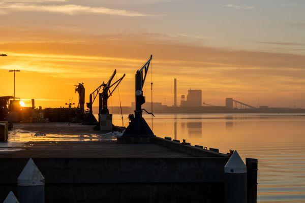 Fish Docks at Sunset thumbnail