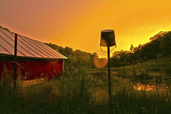 An unusually orange sunset thumbnail